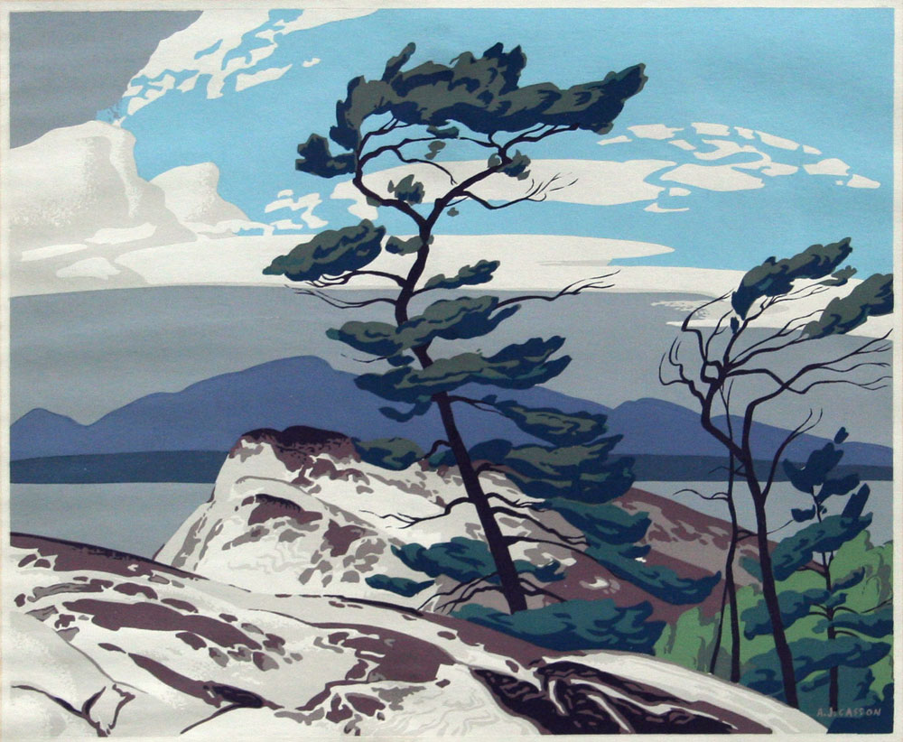 White pine casson alfred joseph galerie clarence gagnon